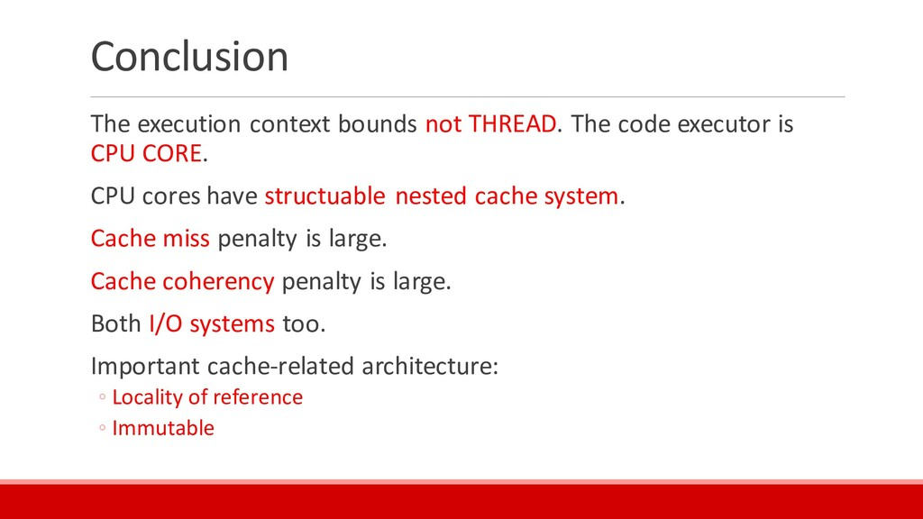 Conclusion The execution context bounds not THR...