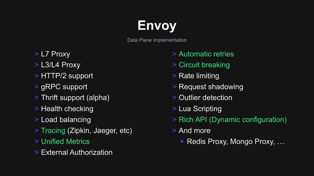 Data Plane Implementation Envoy > L7 Proxy > L3...