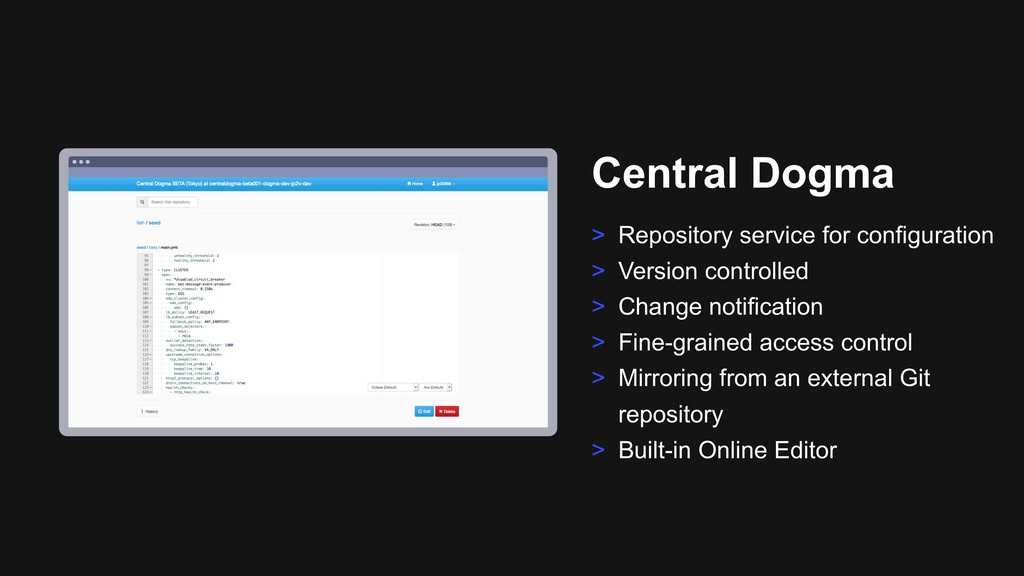 Ƃ Central Dogma > Repository service for config...