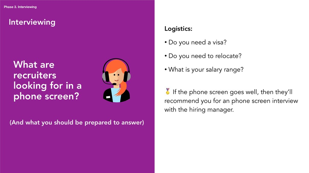 Interviewing Logistics: • Do you need a visa? •...