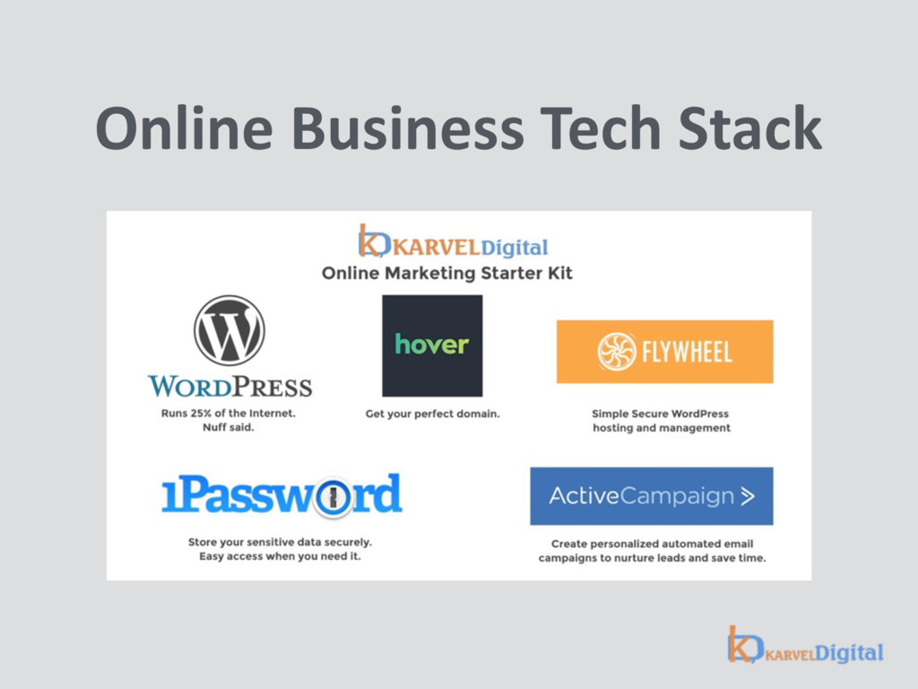 Online Business Tech Stack