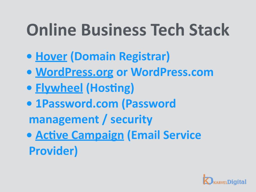 Online Business Tech Stack • Hover (Domain Reg...