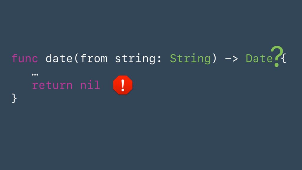 func date(from string: String) -> Date { … retu...