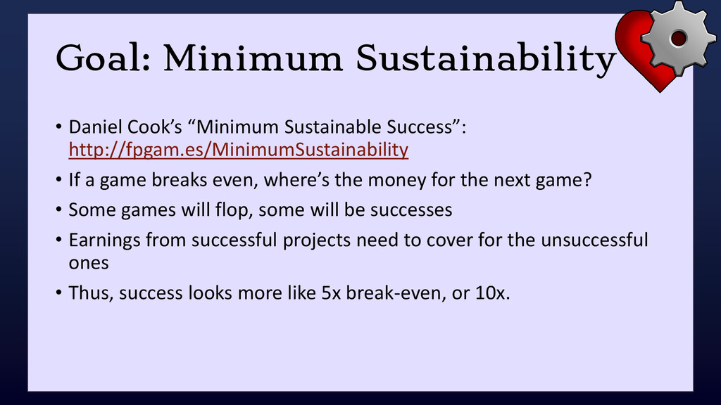 "Goal: Minimum Sustainability • Daniel Cook's ""M..."