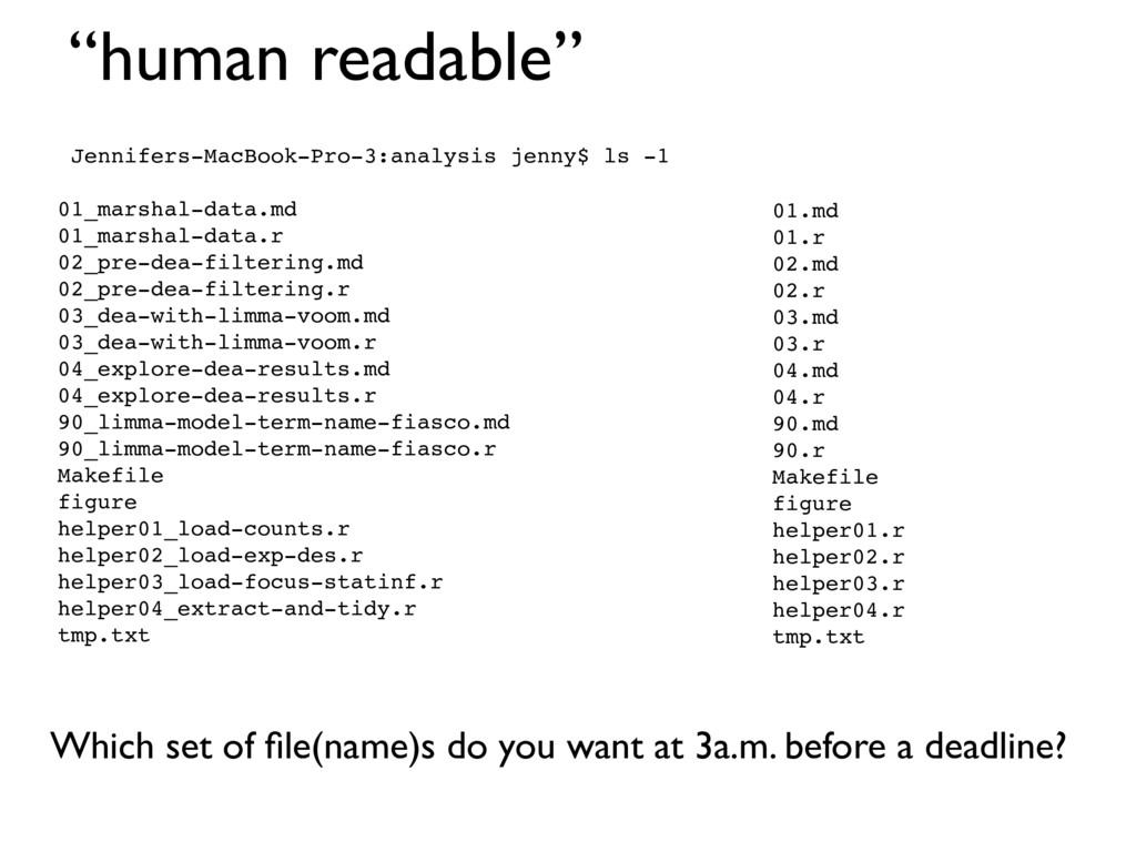 """""""human readable"""" Jennifers-MacBook-Pro-3:analys..."""