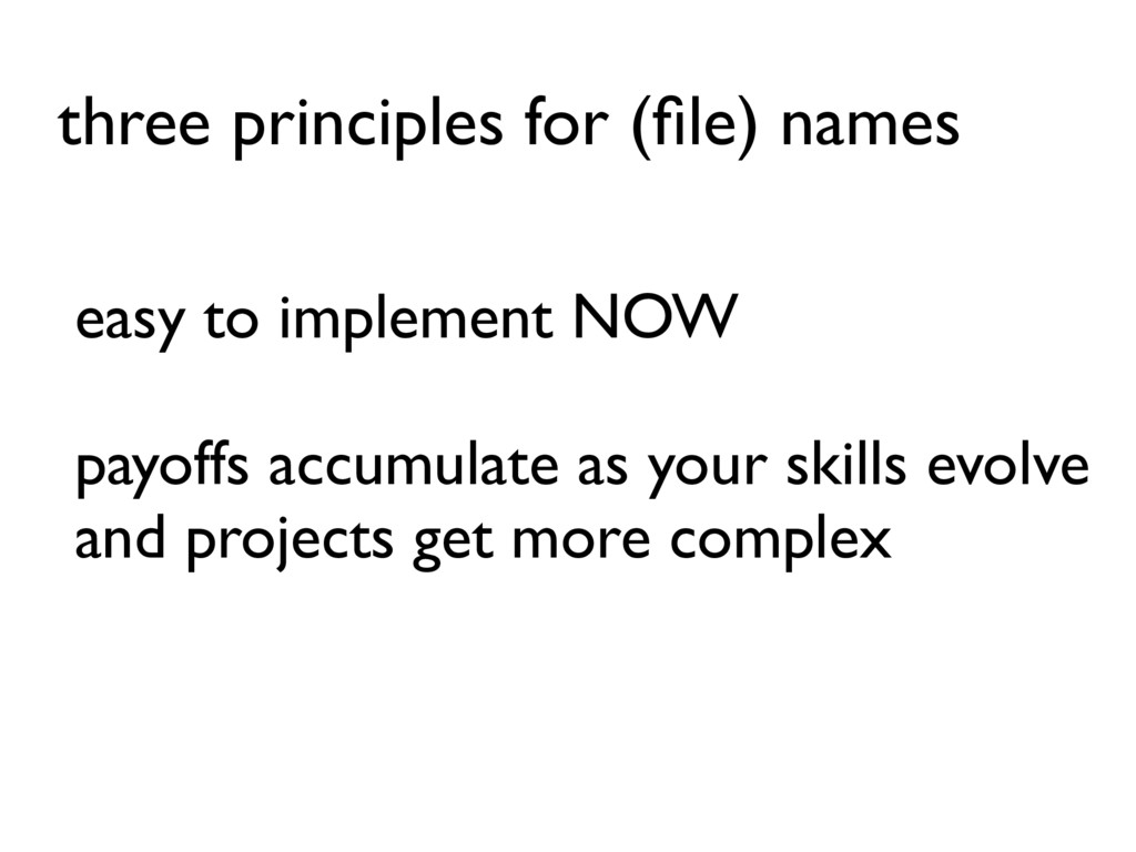easy to implement NOW payoffs accumulate as you...