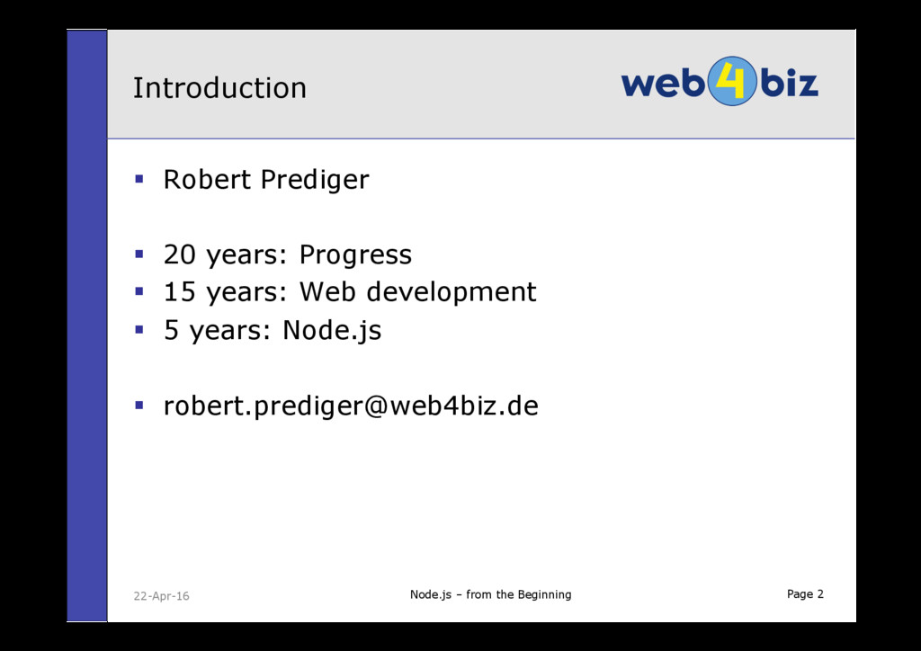 Page 2 § Robert Prediger § 20 years: Progress...