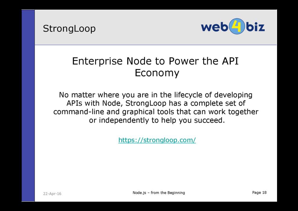 Page 18 Enterprise Node to Power the API Econom...
