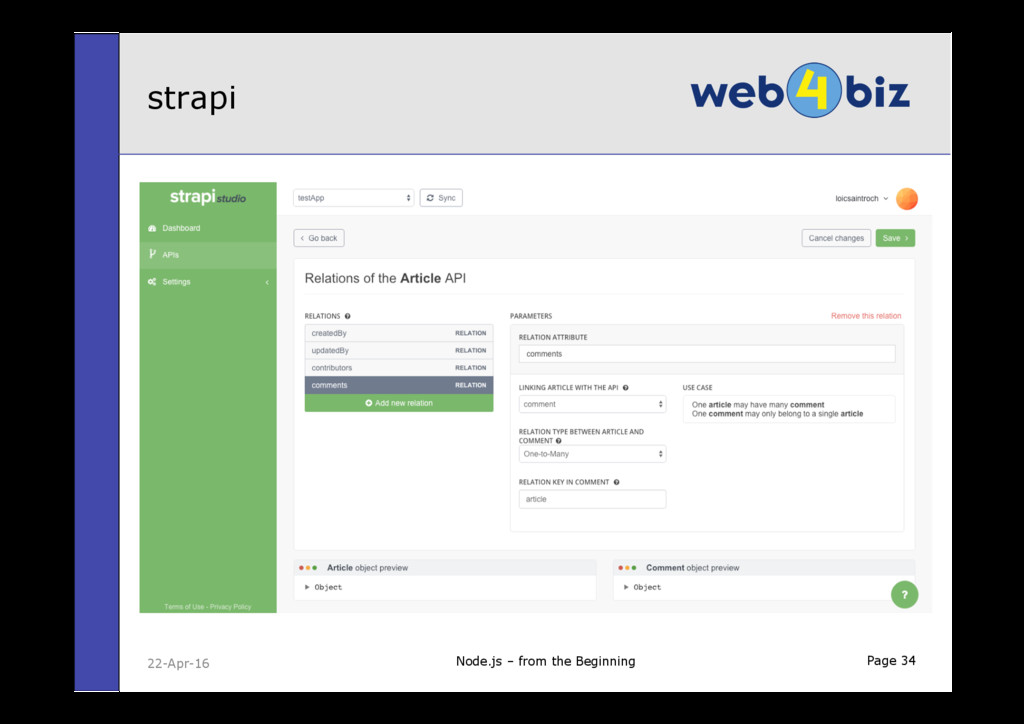 Page 34 strapi Node.js – from the Beginning 22-...