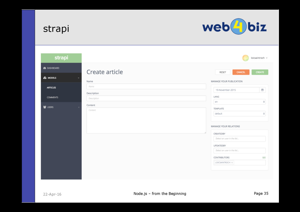 Page 35 strapi Node.js – from the Beginning 22-...