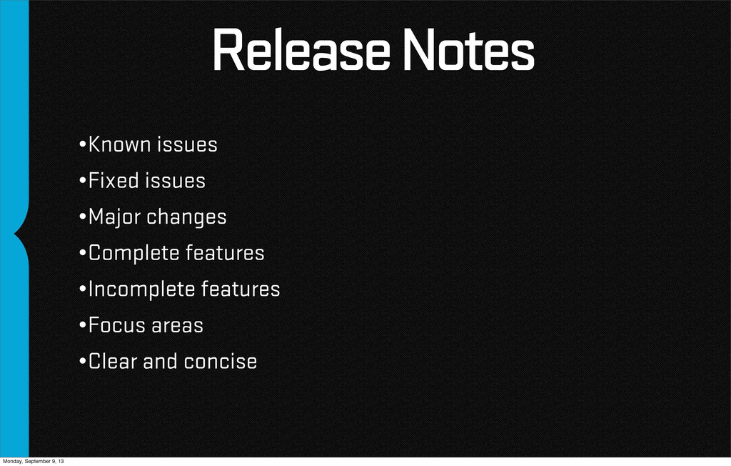 Release Notes •Known issues •Fixed issues •Majo...