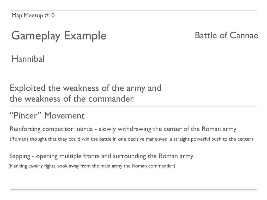 Map Meetup #10 Gameplay Example Battle of Canna...