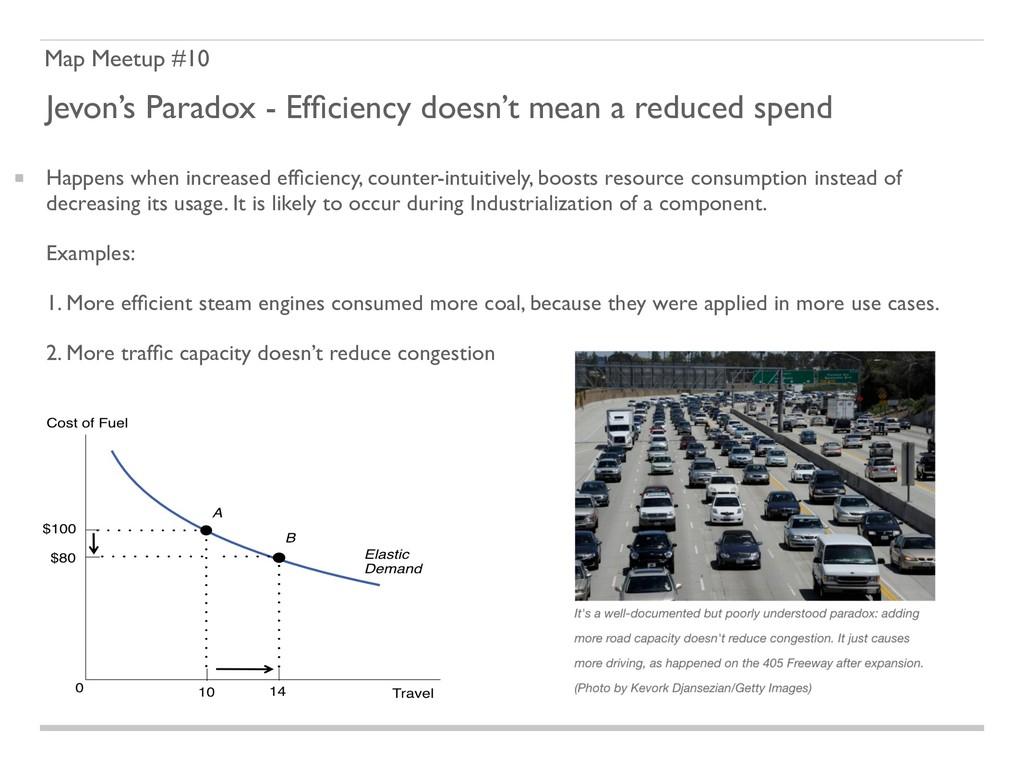 Map Meetup #10 Jevon's Paradox - Efficiency does...