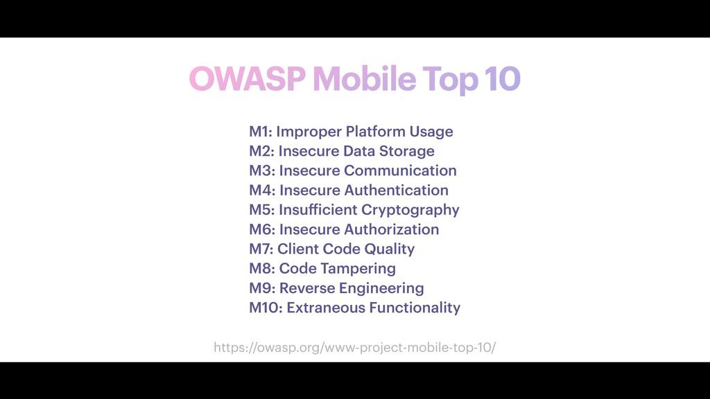 OWASP Mobile Top 10 M1: Improper Platform Usage...