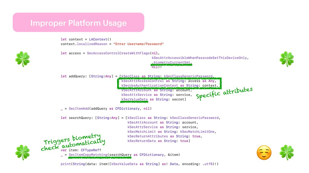 Improper Platform Usage 🍀 🍀 🍀 🍀 ☺ Triggers biom...