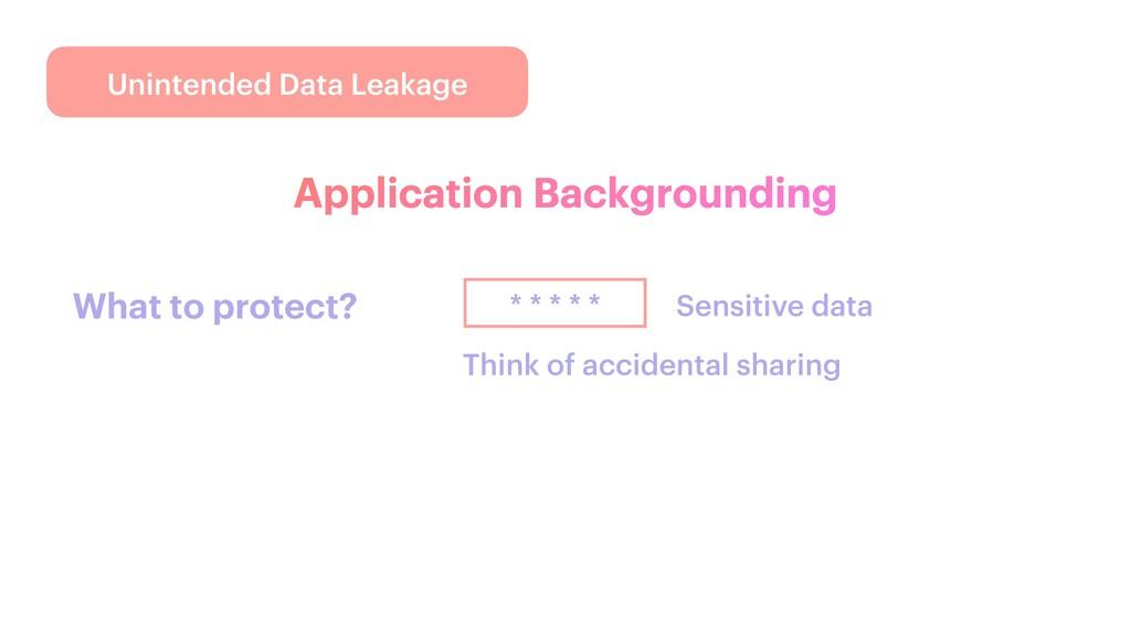 Unintended Data Leakage Application Backgroundi...