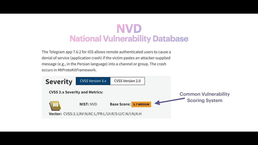 NVD National Vulnerability Database Common Vuln...