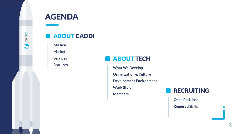 AGENDA 3 ABOUT CADDi Mission Market Services Fe...