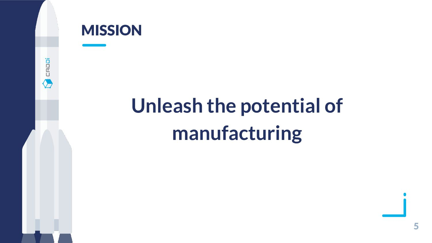 5 MISSION Unleash the potential of manufacturing