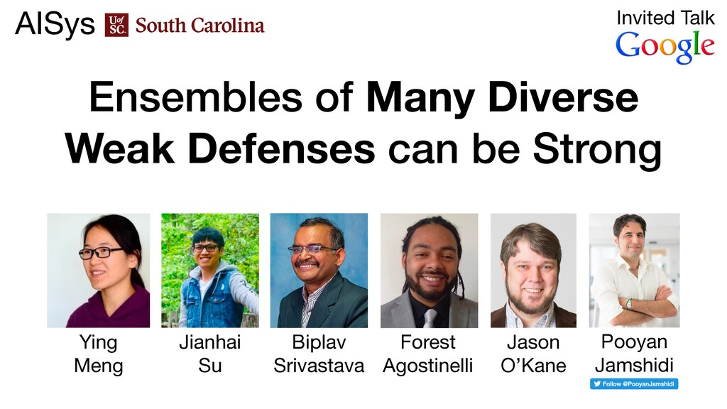 Ensembles of Many Diverse Weak Defenses can be ...