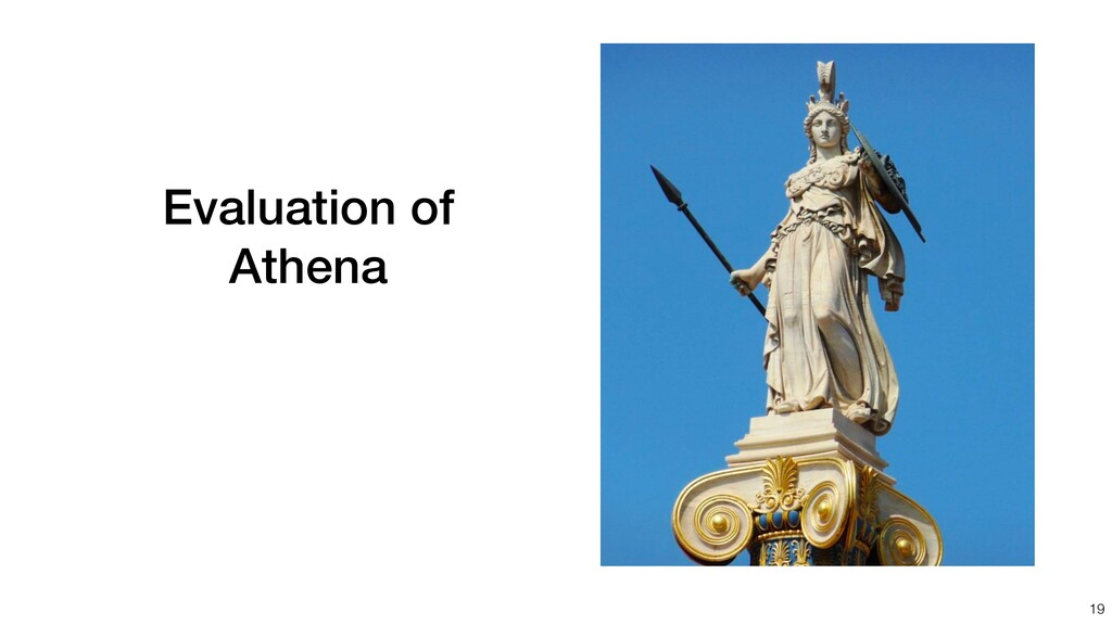 Evaluation of Athena 19