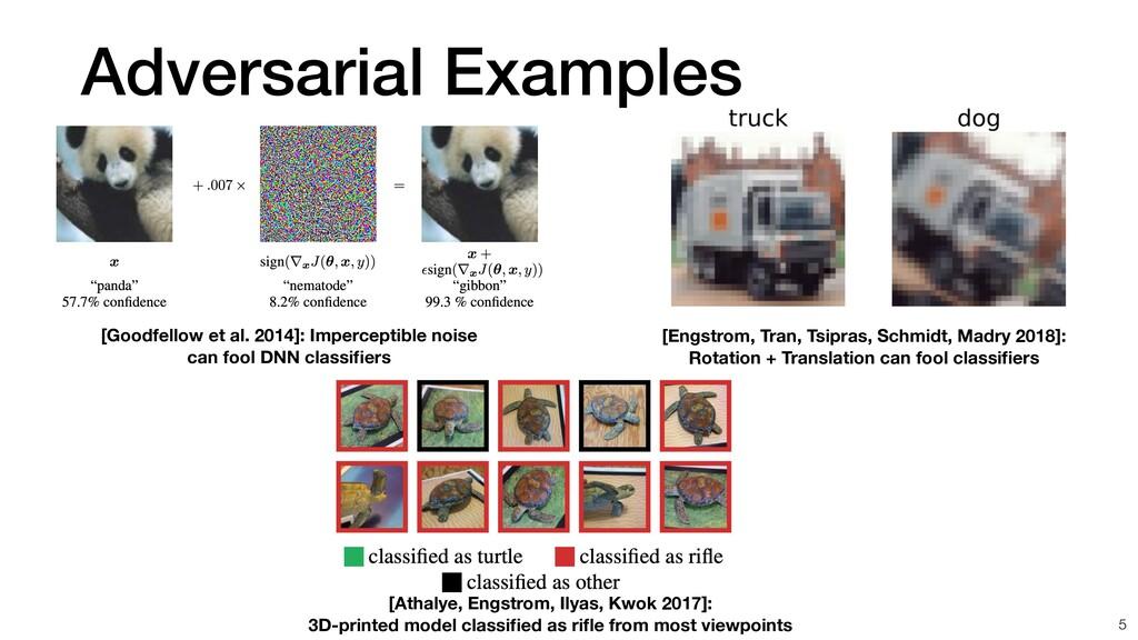 Adversarial Examples [Engstrom, Tran, Tsipras, ...