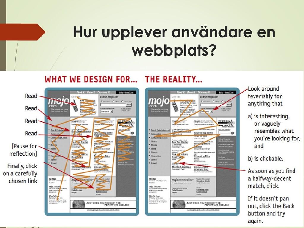 Hur upplever användare en webbplats?