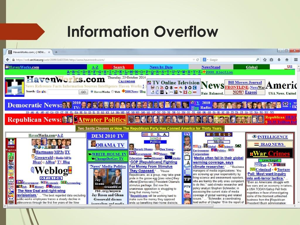 Information Overflow  Problem - För mycket onö...