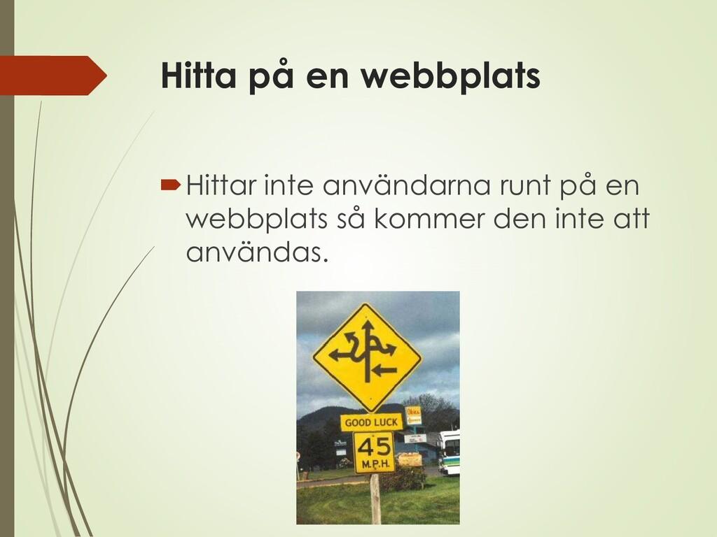 Hitta på en webbplats Hittar inte användarna r...