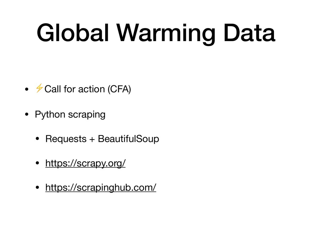 • ⚡Call for action (CFA)  • Python scraping  • ...