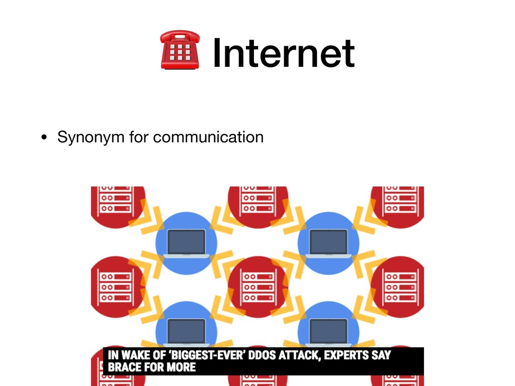 • Synonym for communication ☎ Internet