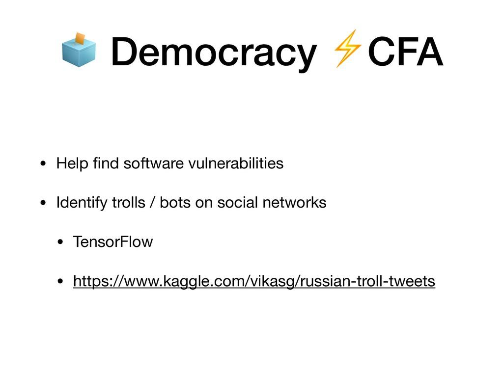 • Help find software vulnerabilities  • Identify...