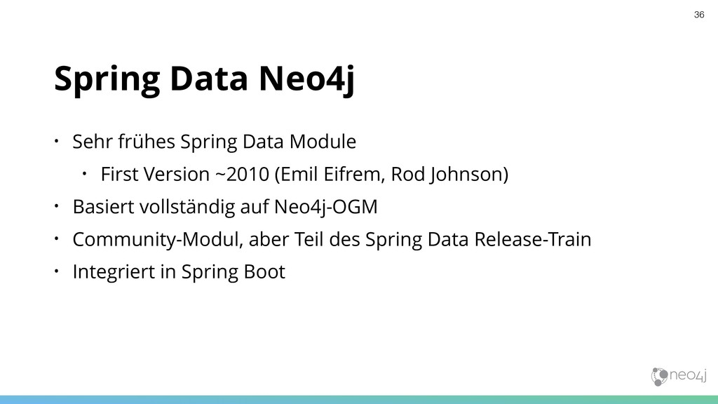 Spring Data Neo4j • Sehr frühes Spring Data Mod...