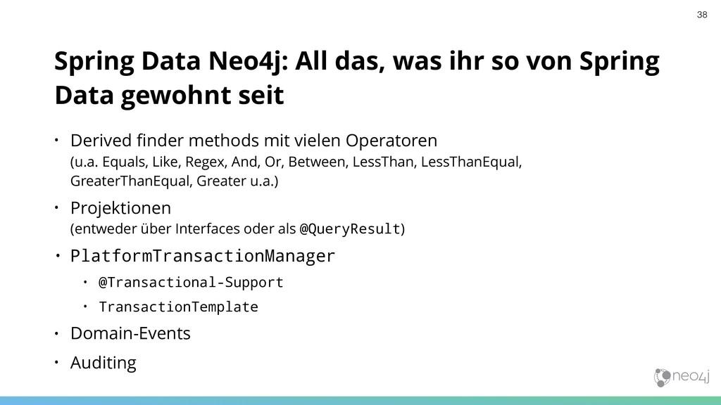 Spring Data Neo4j: All das, was ihr so von Spri...