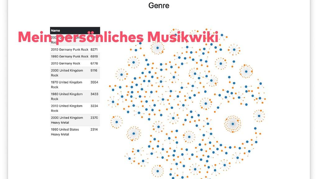 Mein persönliches Musikwiki