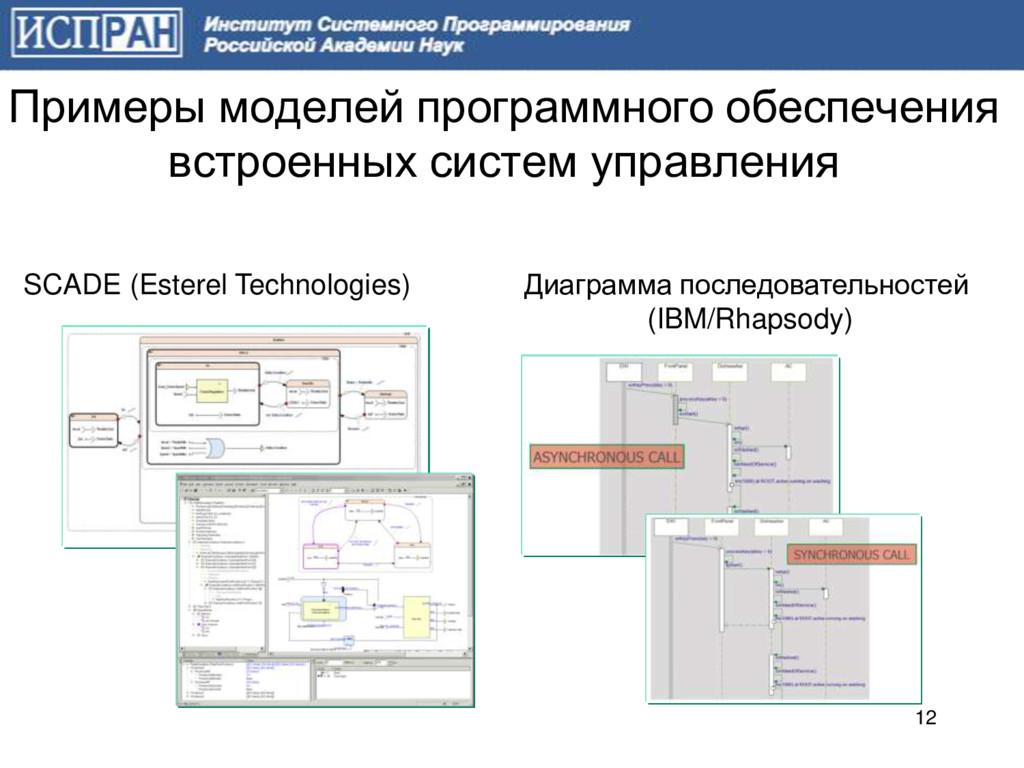 Примеры моделей программного обеспечения встрое...