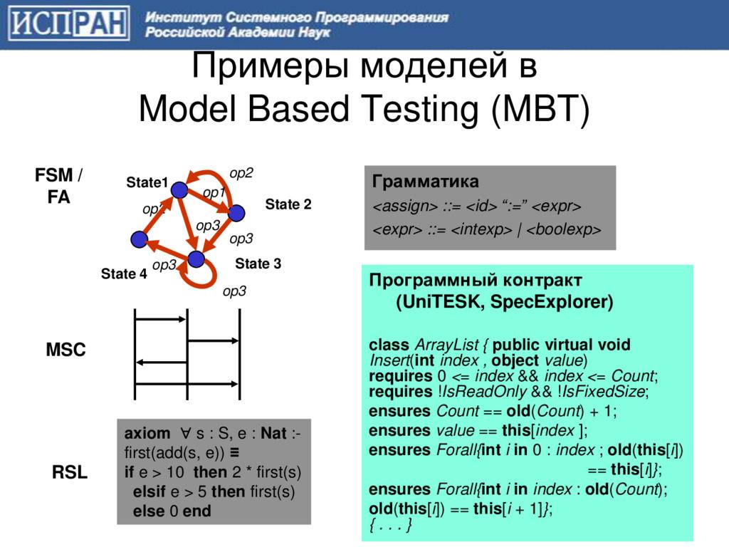 Примеры моделей в Model Based Testing (MBT) 3 R...
