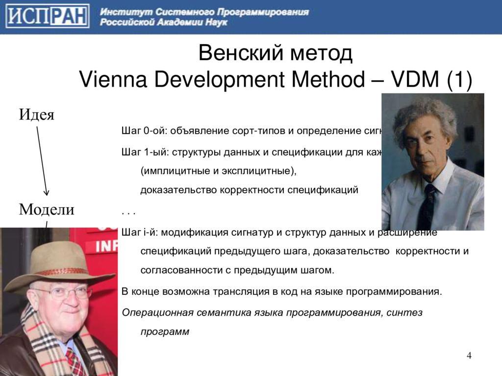 Венский метод Vienna Development Method – VDM (...