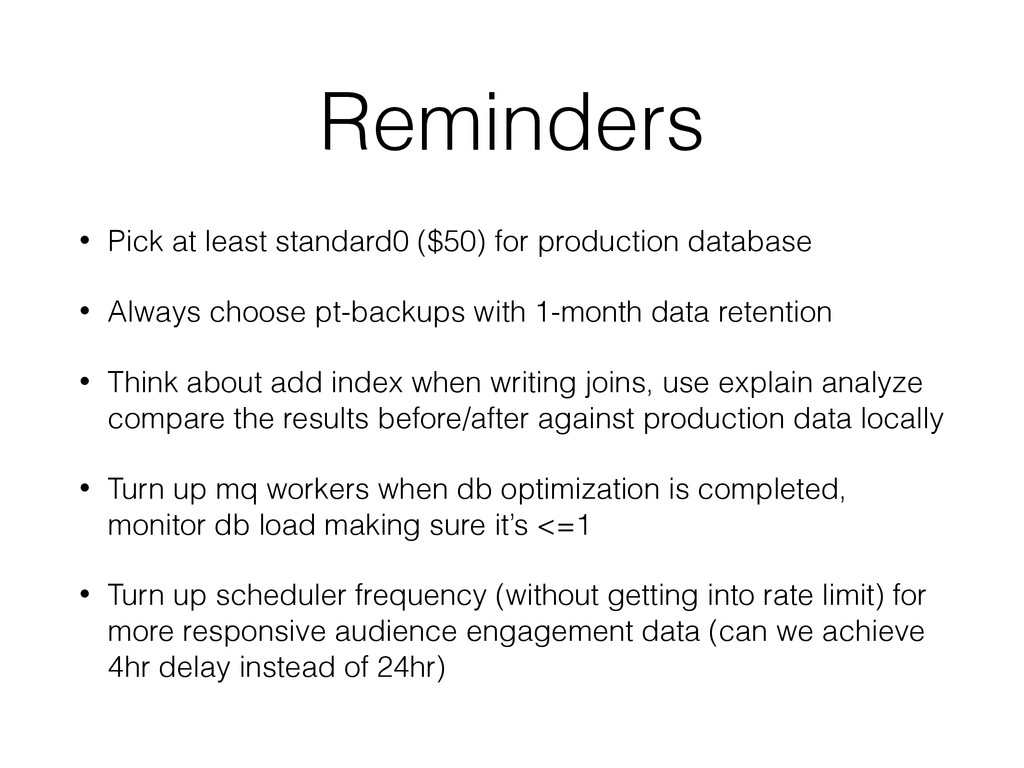 Reminders • Pick at least standard0 ($50) for p...