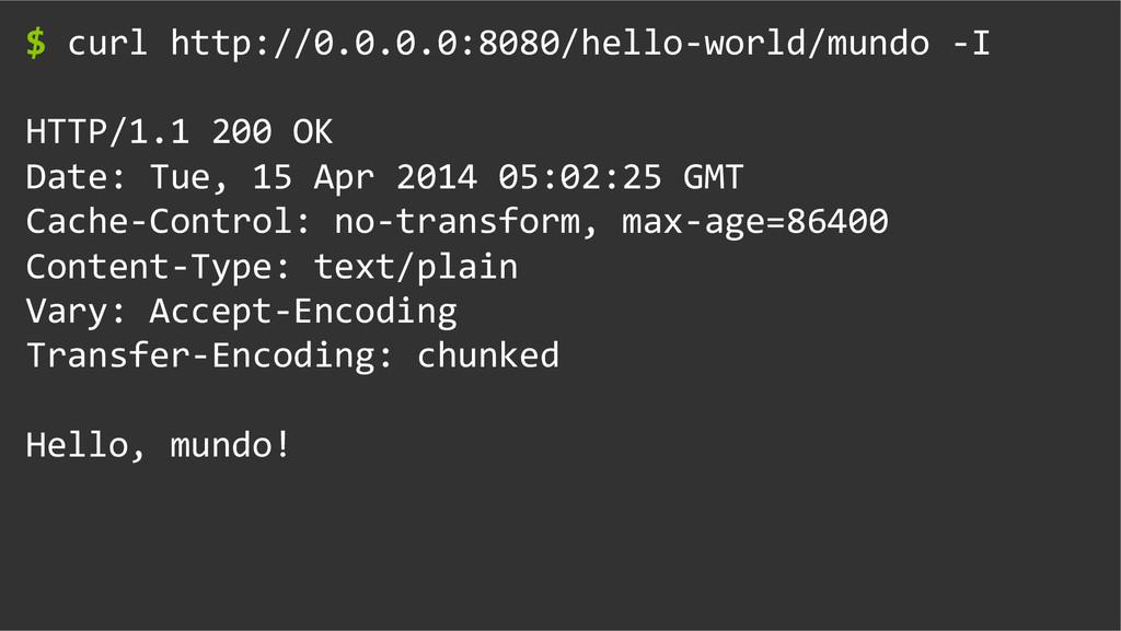 $ curl http://0.0.0.0:8080/hello-‐world/...