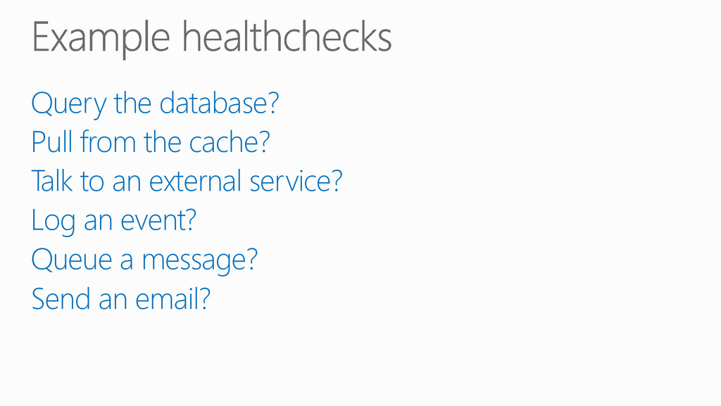Query the database? Pull from the cache? Talk...