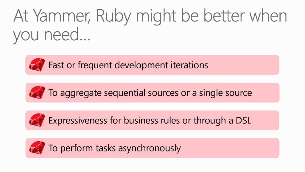 Fast or frequent development iterations To agg...