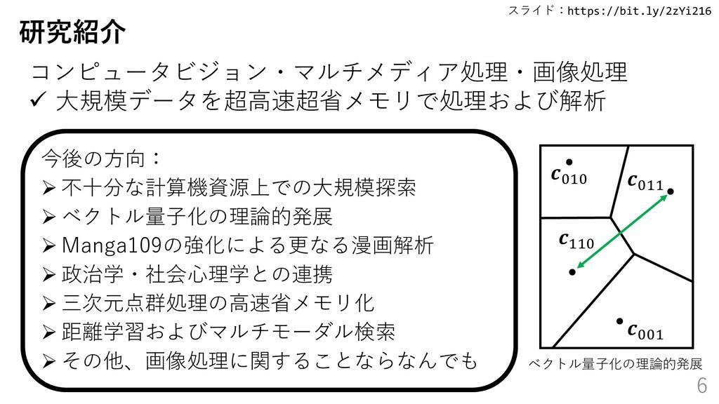 スライド:https://bit.ly/2zYi216 6 研究紹介 今後の方向: ➢ 不十分...