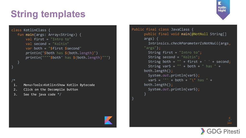 class KotlinClass { fun main(args: Array<String...