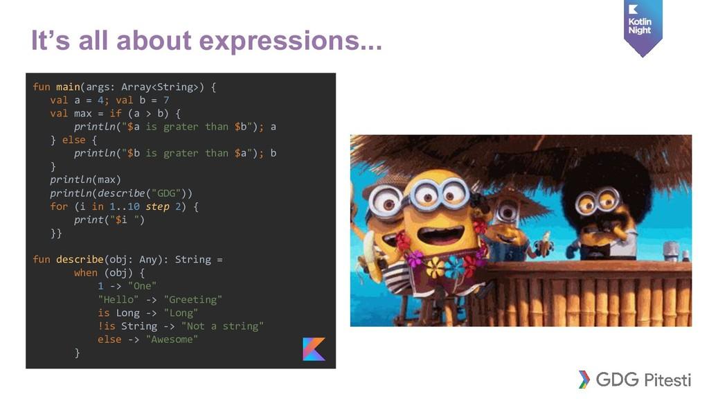fun main(args: Array<String>) { val a = 4; val ...