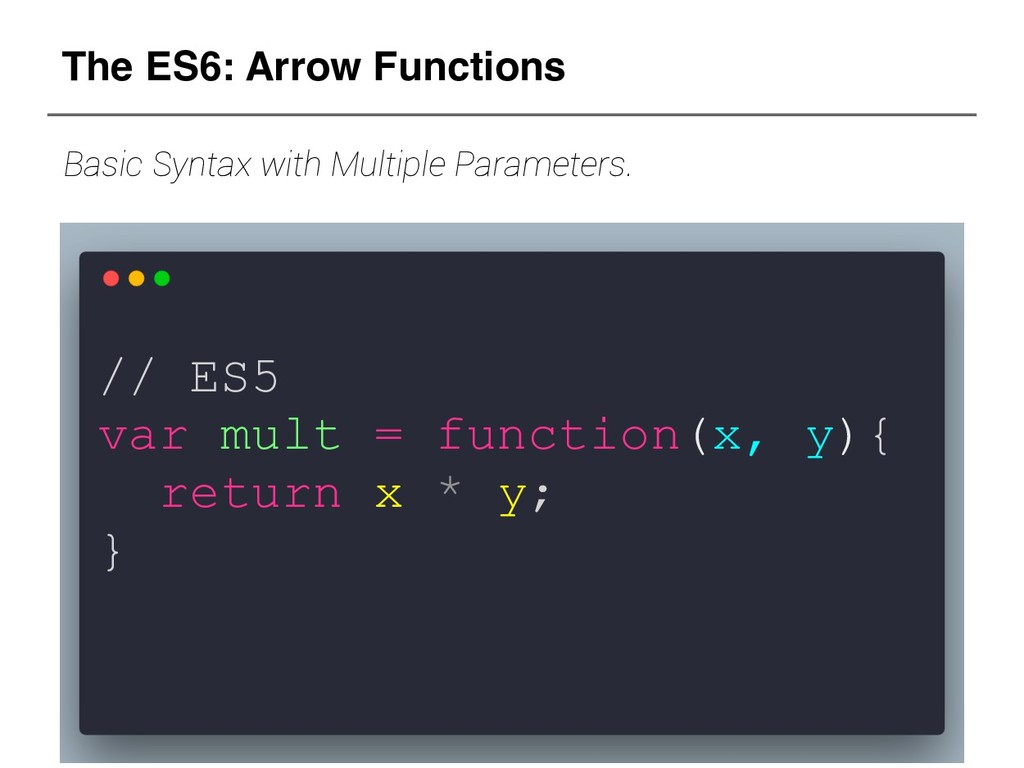 // ES5 var mult = function(x, y){ return x * y;...
