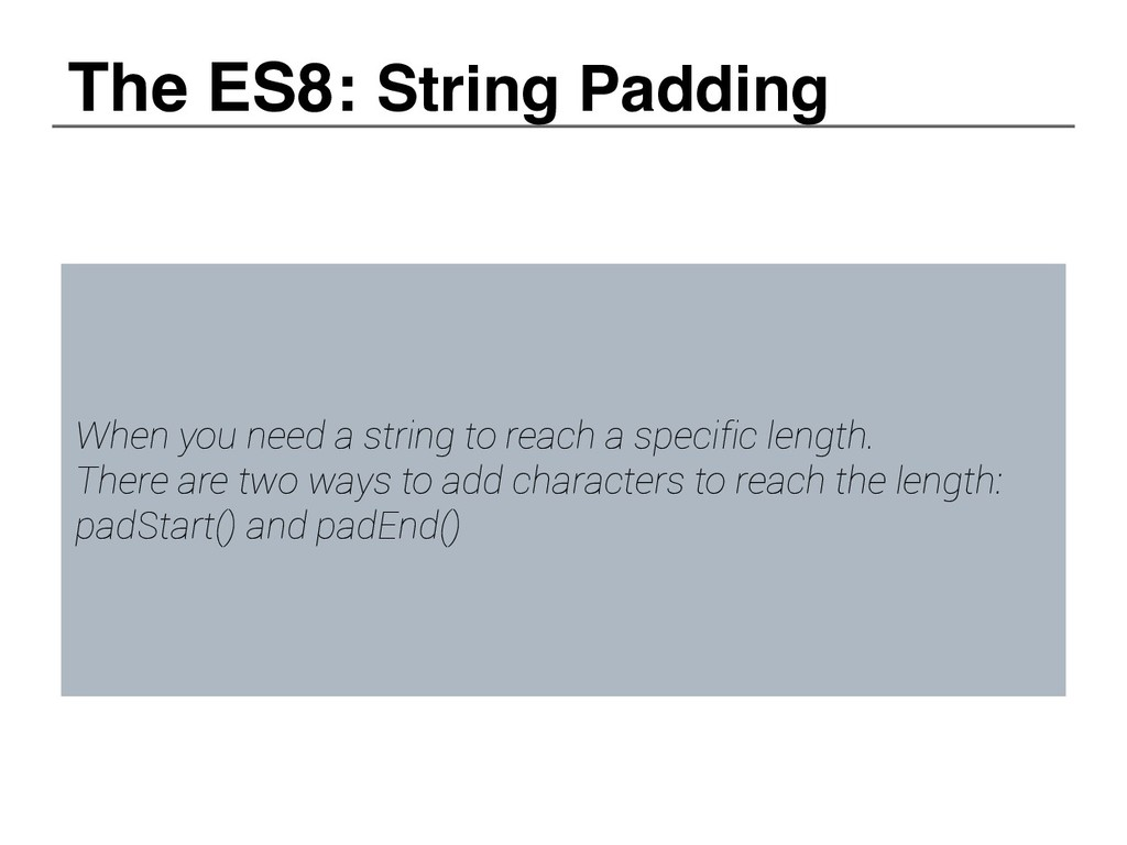 When you need a string to reach a specific leng...