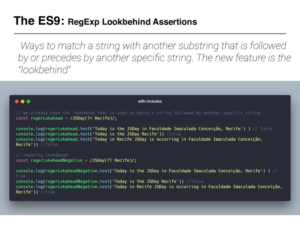 The ES9: RegExp Lookbehind Assertions Ways to m...