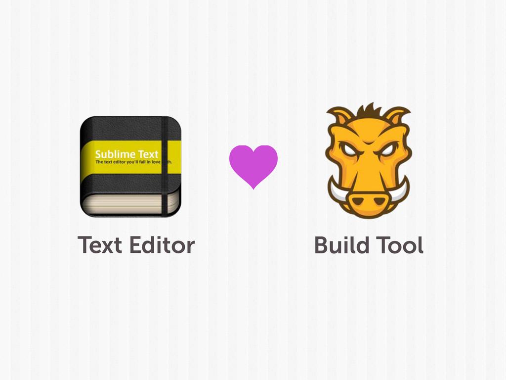 Text Editor Build Tool