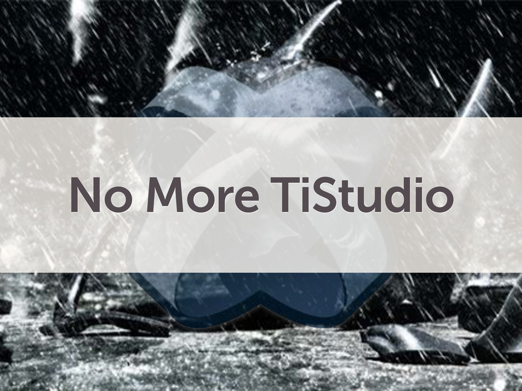 No More TiStudio